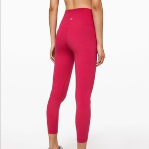"NEW Ruby Red Lululemon Align Pant 25"""